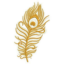 gold peacock feather embroidery designs machine embroidery designs