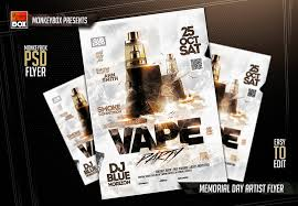 office party flyer vape party flyer by andydreamm on deviantart