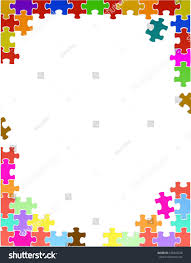 free puzzle piece template colorful puzzle pieces border template illustration stock colorful puzzle pieces border template illustration design over a white background