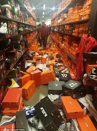 black friday sees seattle nike outlet trashed by shoppers daily