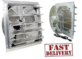 shutter exhaust fan 24 24 industrial exhaust shutter fan 2 speed wall mount 4310 cfm