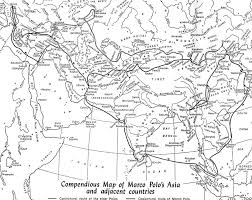 Blank Map Of Europe And Asia by Marco Polo And His Travels