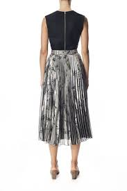 pleated skirts silk lamé pleated skirt kaelen nyc