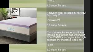 Ventilated Mattress Pad Lucid 3 Inch Lavender Infused Memory Foam Mattress Topper