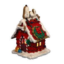 kurt s adler 9 84 in snoopy gingerbread lighted house pn5121