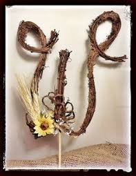 w cake topper rustic twig monogram letter wedding cake topper by theoriginaltwig