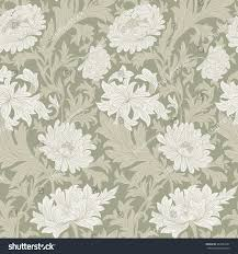 Modern Floral Wallpaper Modern Fabric Design Pattern Desktop Wallpaper Stock Illustration