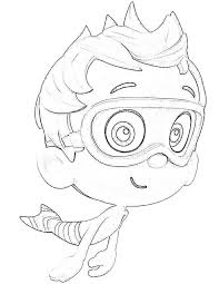 molly character bubble guppies colouring happy colouring