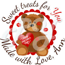Engraved Teddy Bears Personalized Teddy Bear Kisses Valentine U0027s Day Stickers