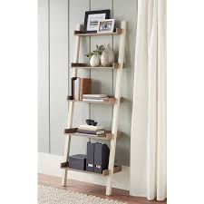 Leaning Bookcase Walmart Better Homes And Gardens Bedford 5 Shelf Leaning Bookcase