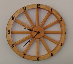 Wagon Wheel Home Decor Wagon Wheel Clock Creative Ideas Pinterest Wagon Wheels