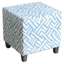 blue and white ottoman blue and white ottoman cube