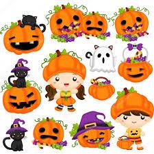 pumpkin clipart set collection