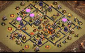 Coc Maps 15 Epic Town Hall 9 War Base Anti 3 Star 2017 Bomb Tower Cocbases