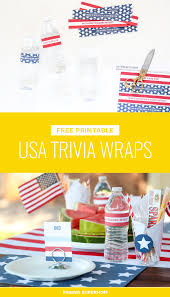 printable halloween trivia quiz july 4th water bottle wraps featuring usa trivia print labels