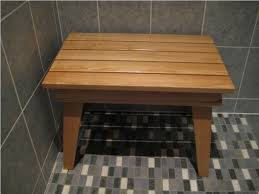 teak bath bench stool bench decoration