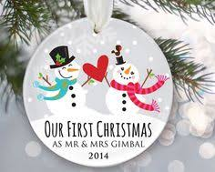 a first christmas as mr and mrs personalized ornament our first