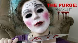 the purge anarchy mask easy halloween makeup tutorial