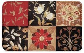 threshold red medallion kitchen rug everystore