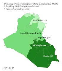 Iraq Province Map Faith In Iraqi Government Falls Sharply In Sunni Regions