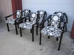 fun set of six panton inspired italian black lacquered dining