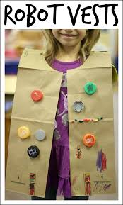 easy robot craft made from recycled materials robot clothes and