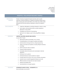 Charity Care Letter Sample hospital volunteer resume samples tips and templates