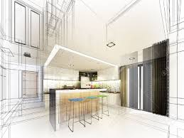 Sketch Kitchen Design by Abstract Sketch Design Of Interior Kitchen Stock Photo Picture