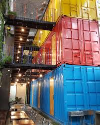 stay in a shipping container hostel in vietnam