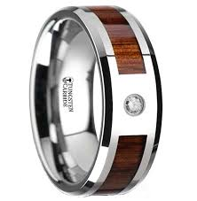 wood wedding rings wooden wedding ring with diamond the oasis free engraving