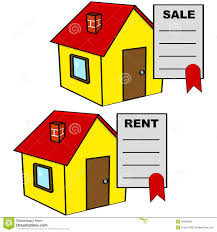 house for sale and for rent stock illustration image 40089856