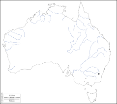 Black And White Map Australia Free Map Free Blank Map Free Outline Map Free Base