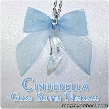 cinderella glass slipper necklace magical ribbons