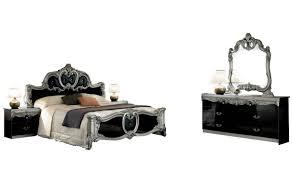 barocco bedroom set barocco bedroom set in black silver lacquer free shipping