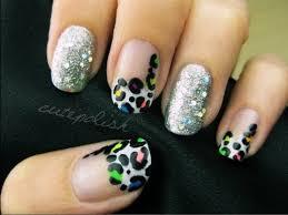 glamorous neon leopard nail art youtube