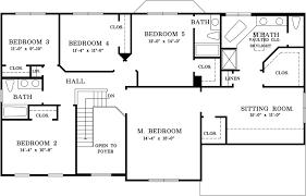 five bedroom floor plan five bedroom home plans luxamcc org