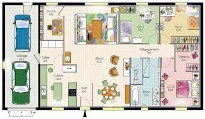 plan maison 3 chambres plain pied modèle de plan de maison plain pied avec 3 chambres et garage 2