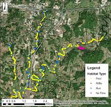 Flow Line Map Definition High Definition Stream Survey Of The Falling Water River Tn