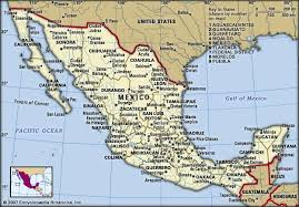 mexico map 1800 mexico history geography facts points of interest