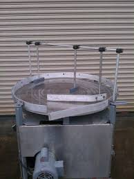 accumulation table for sale 36 dia ss rotary accumulator bottle feed table pack off