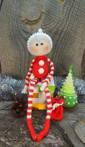 crochet santa use for a pin scrapbooking magnet or