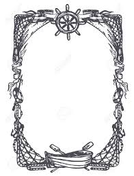 vintage nautical and marine frame royalty free cliparts vectors