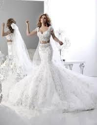 wedding dresses mermaid sparkly two white mermaid wedding dresses lace
