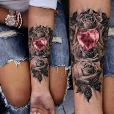 black and grey with a pop of color tattoo art ideas pinterest