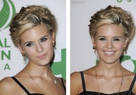 hair cut for high cheek bones maggie grace s hair worn up and sarah roemer s hair in long layers