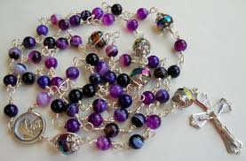purple rosary etsy rosary guild team purple striped agate catholic rosary
