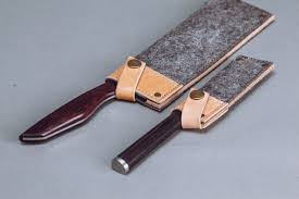 kitchen knives with sheaths leather knife cover saya knife cover handmade knife sheath