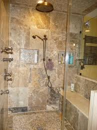 Stone Bathroom Designs Stone Bathroom Showers Double White Bowl Sink Mix Stainless Steel