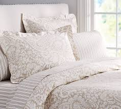 Pottery Barn Toile Bedding Theo Bedding Set Brownstone Pottery Barn The Neutral In