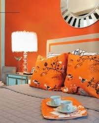 Benjamin Moores Outrageous Orange The Best Place For An - Bedroom orange paint ideas